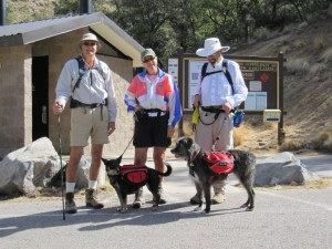 ready to hike in Medeira Canyon, AZ with Jerry, Lynn, John, and Rose