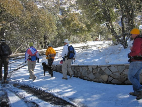 Warm weather hiking in Madeira Canyon, AZ in the snow