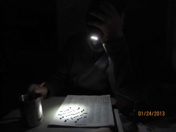 mornings with John - crosswords, coffee, low lights