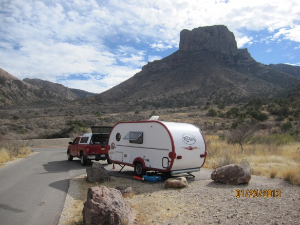 campsite 18 at Chisos Basin, Big Bend