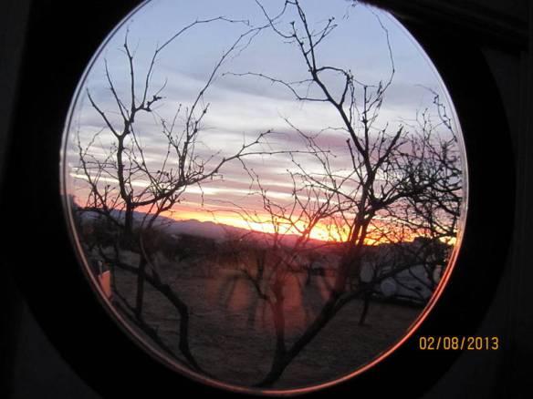sunrise thru the porthole - Kartchner Caverns