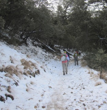 we set off on the Old Baldy Trail