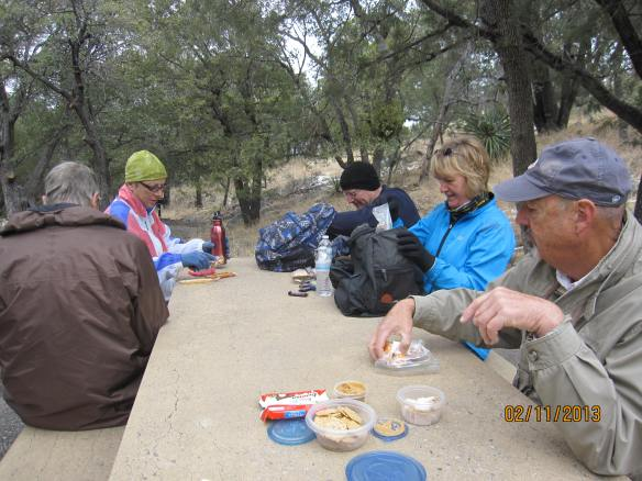 If you bring lunch, you gotta eat it on the trail.