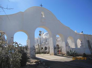 San Xavier Mission from the back)