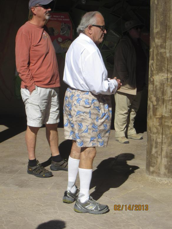 Fashion statement at the Zoo (and I'm not talkin' about John).