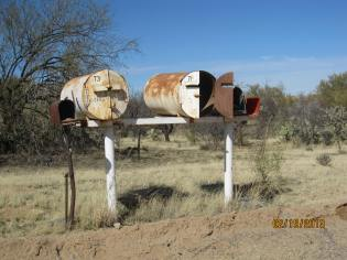interesting mailboxes out in the middle of nowhere.