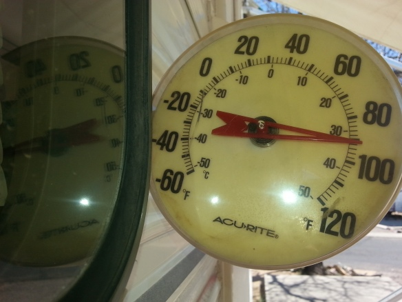 By 1pm, it was just over 90 degrees outside (in the shade). Do you have any idea how hot that makes it inside a trailer?