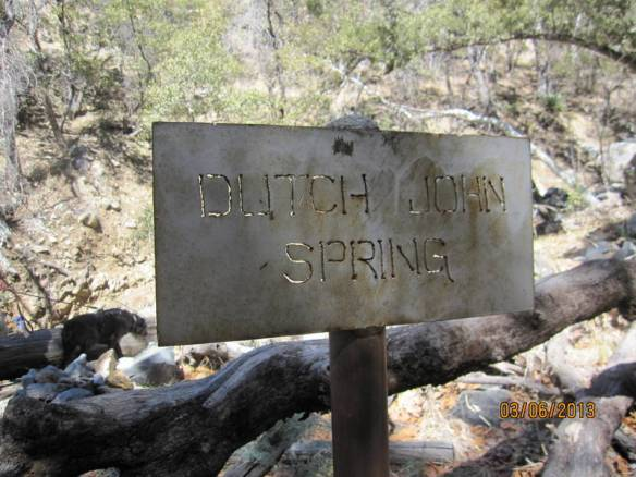 a spring-fed basin which probably served prospectors in the hills.