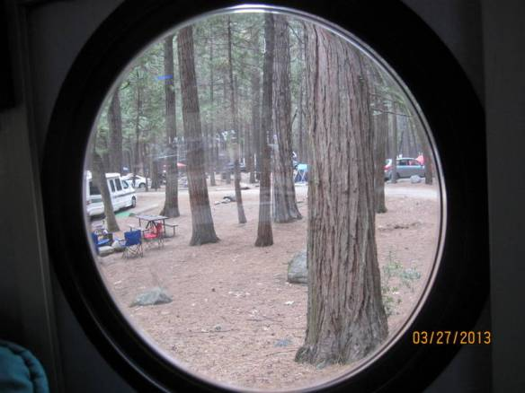 porthole view from our campsite.