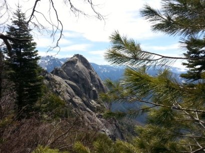 The peak of Moro Rock was our hike destination.