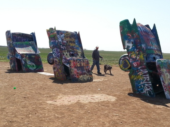 Cadillac Ranch in all its glory