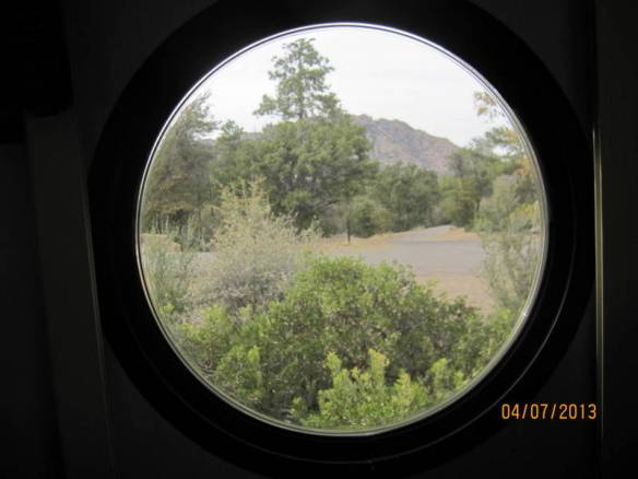 Thru the porthole at Granite Basin Campground.