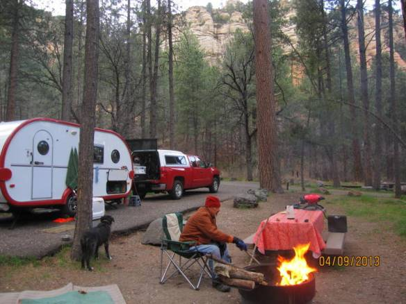 our campsite in Coconino National Forest - Cave Springs Campground