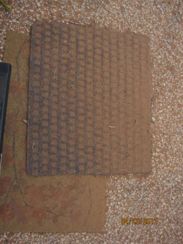 The doormat outside the Fireball in the morning after the windstorm (again).