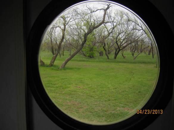 Through the porthole at Lake Arrowhead SP