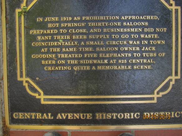 Interesting bit of Hot Springs history