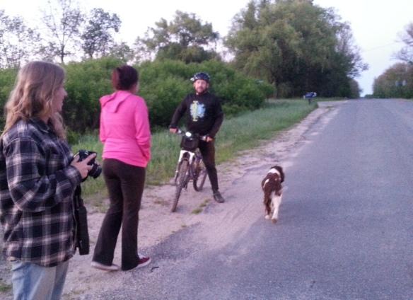 Dawn and Emma still checking the horizon for Bob.