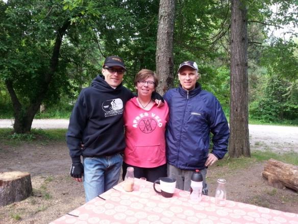 Joel, Susanne, and Brad - still smiling.