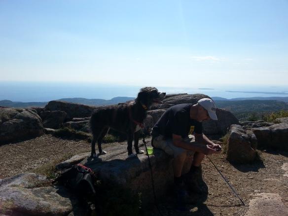 Jezzy and John at the summit