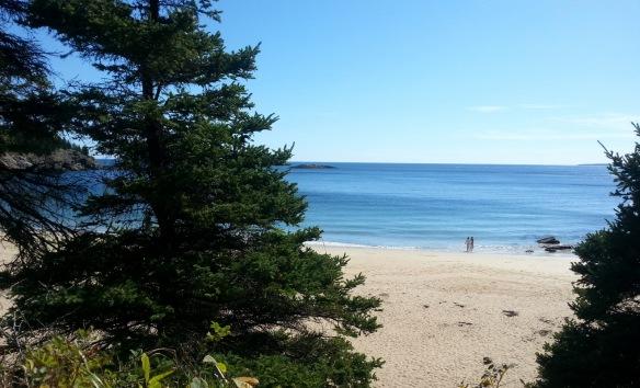 Sand Point Beach was deserted.
