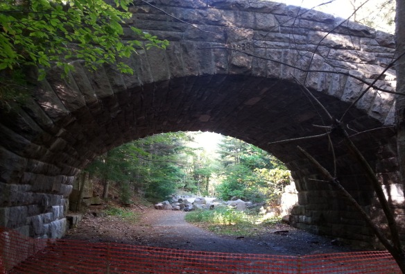 This is one of 17 limestone bridges in Acadia, yet the only one where the blocks are NOT mortared into place.