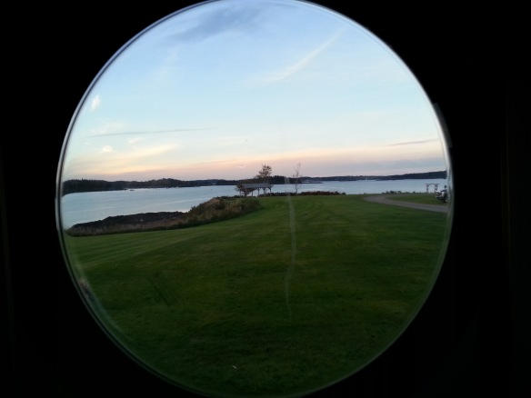 thru the porthole at our campsite